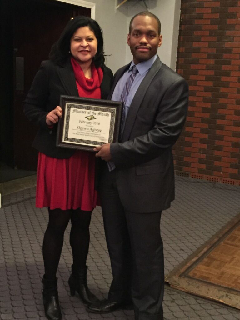 West Indian Social Club - March member of the month agbese