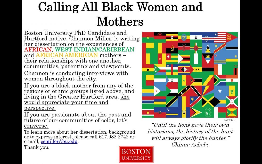 Calling All Black Women & Mothers.