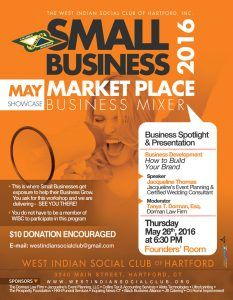 MAY 2016 - West Indian Social Club - Small Business Mixer - How to Build Your Brand