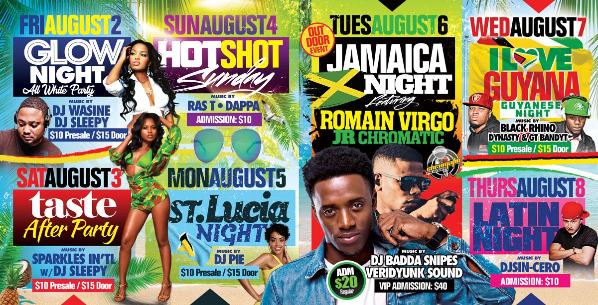 2019 West Indian Celebration Week - August 2nd to 10th - Featuring Romain Virgo & Rupee + JR CHROMATIC