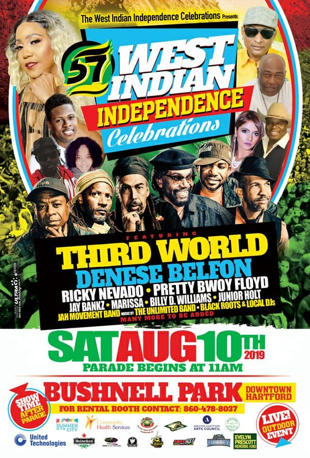 2019 WEST INDIAN INDEPENDENCE Celebration Parade - Hartford CT - West Indian Celebration Week - August 10 - Featuring THIRD WORLD, DENESE BELFON, RICKY NEVADO, PRETTY BWOY FFLOYD...