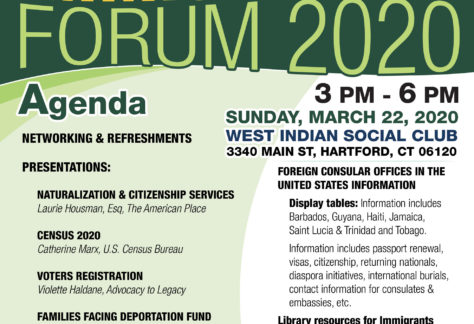 Immigration Forum 2020 at the West Indian Social Club of Hartford