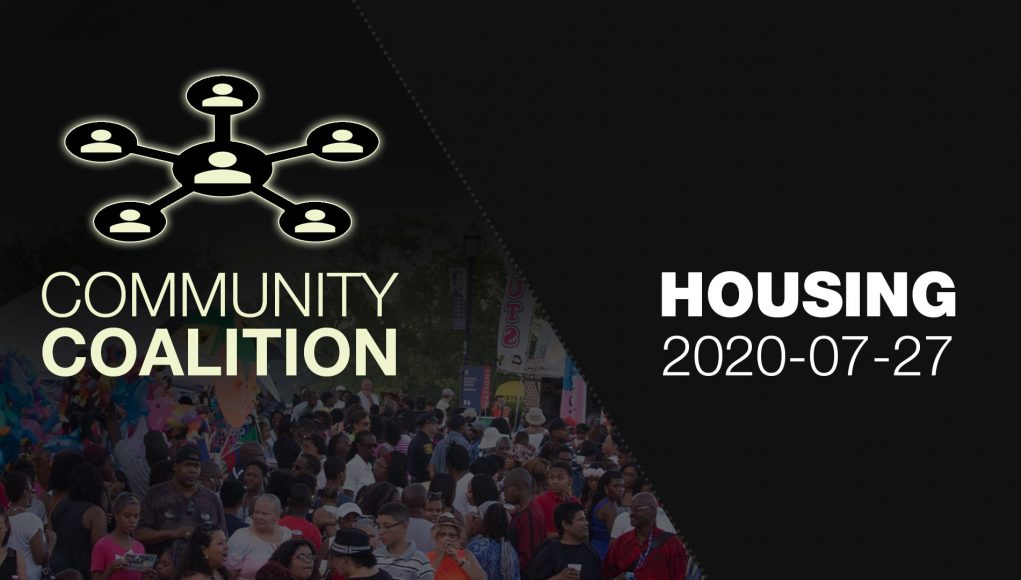 Housing - COMMUNITY COALITION - Virtual Zoom Segment