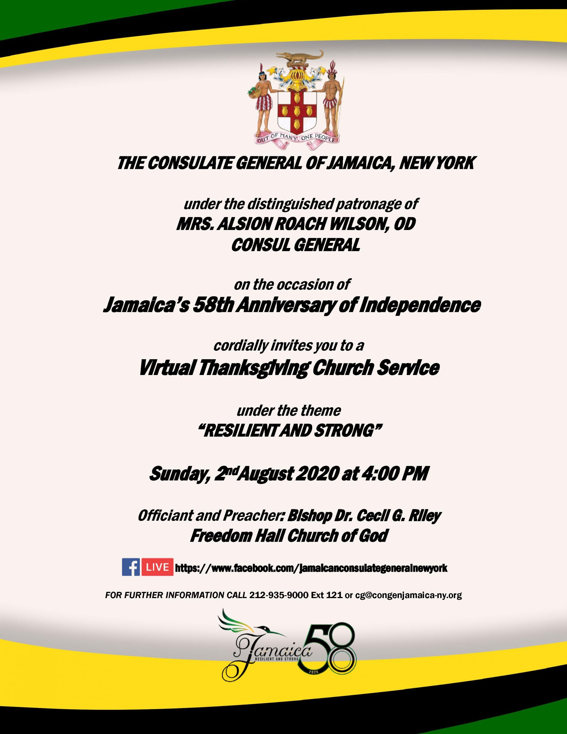 Jamaica's 58th Anniversary of Independence