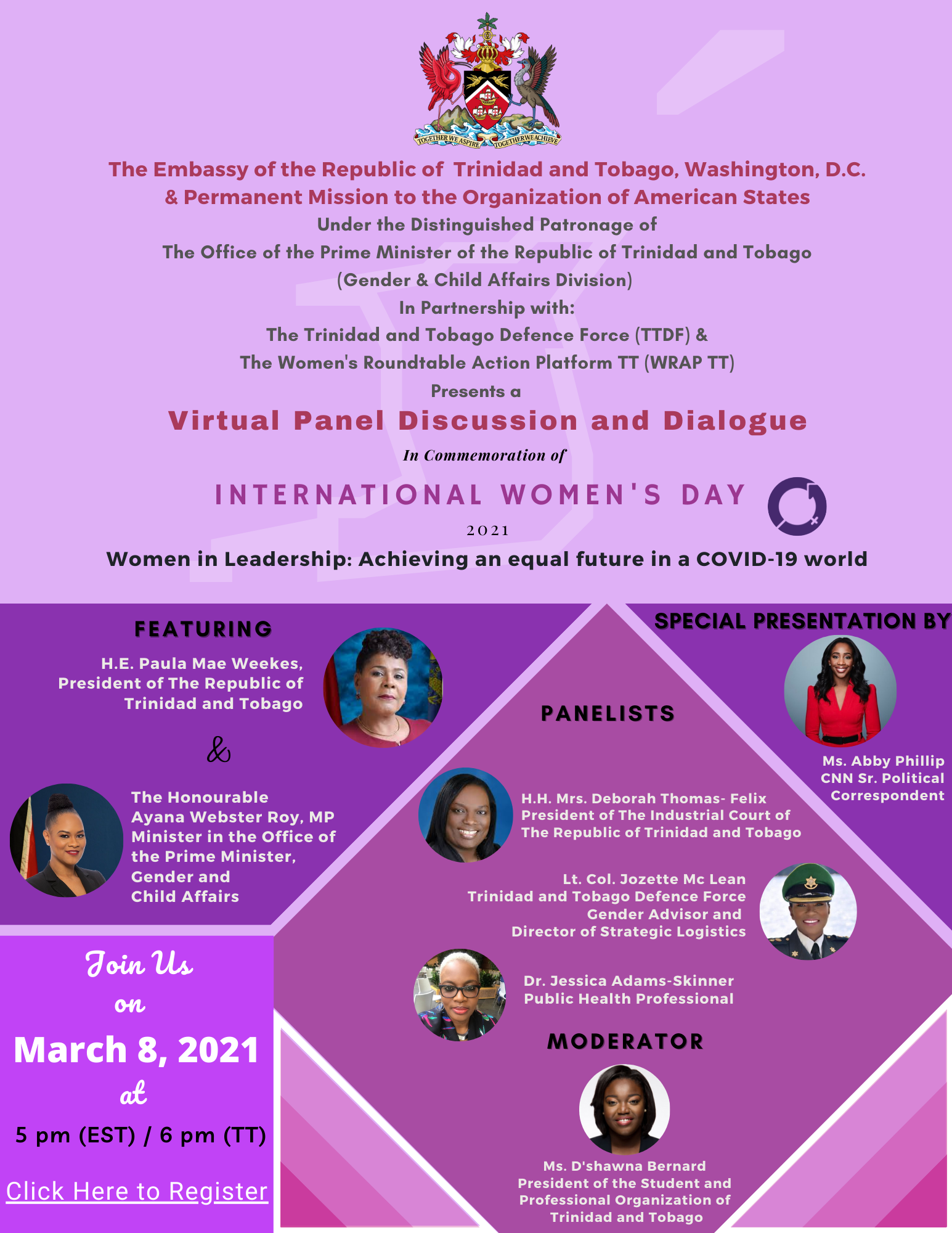 The Trinidad and Tobago Defence Force & The Women's Roundtable Action Platform