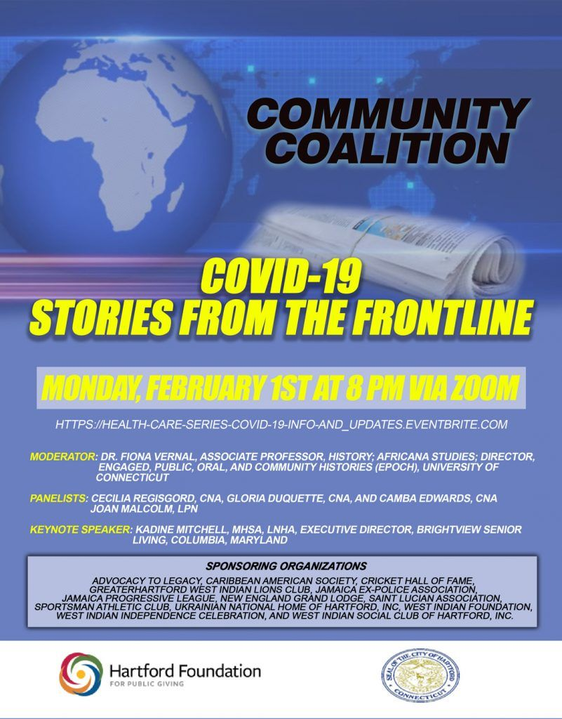 Community Coalition - COVID-19 Stories From The Frontline Part I  - Flyer