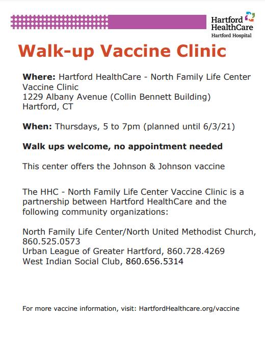Walk-up Vaccine Clinic