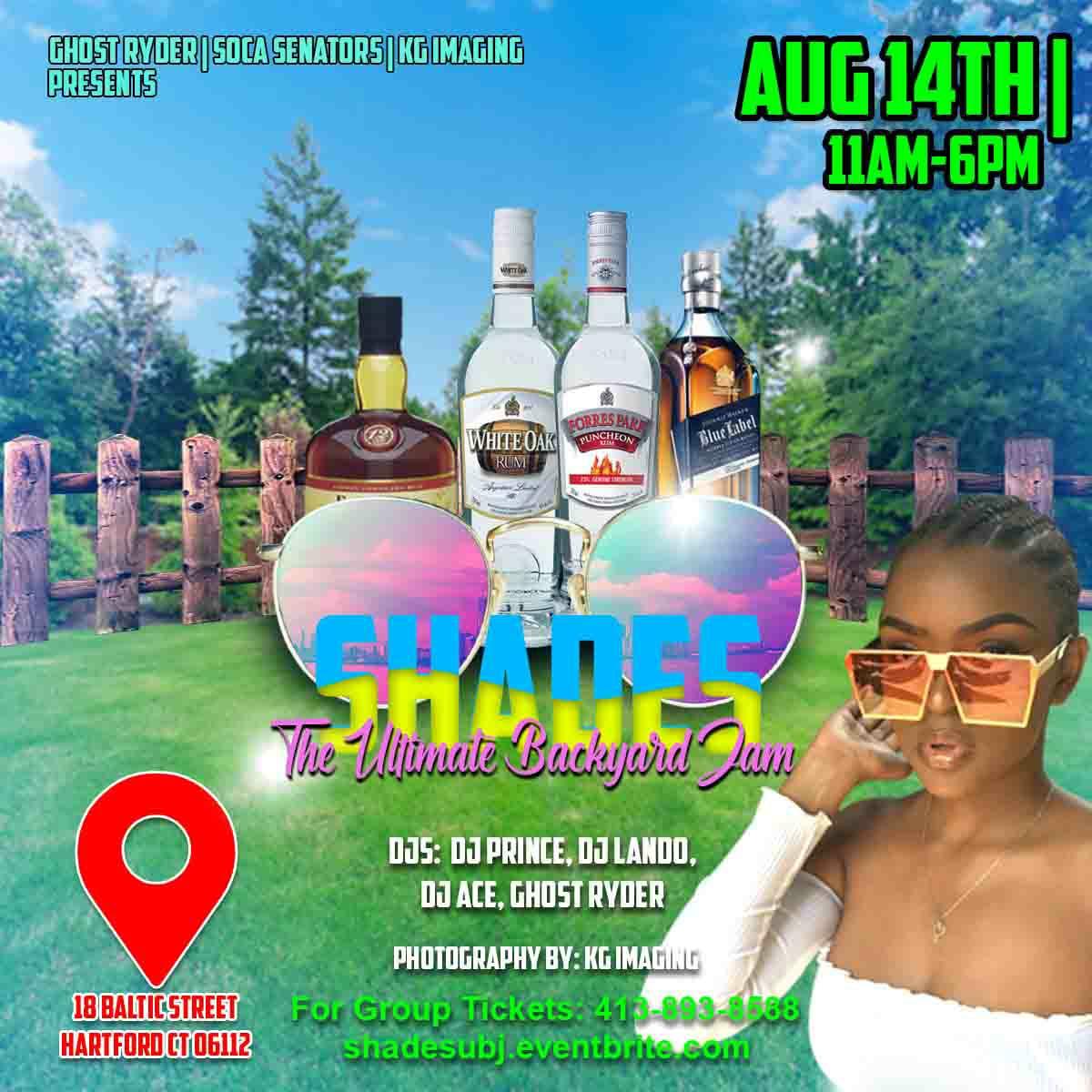 SHADES - The Ultimate Backyard Jam - 2021 - Aug 14th