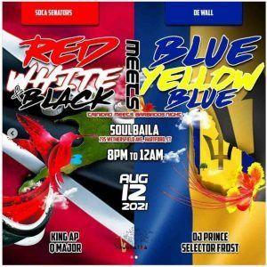 Red White Black meets Blue Yellow - Trinidad meets Barbados - Celebration Week 2021 Hartford CT